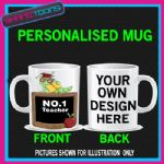 NUMBER 1 ONE TEACHER SCHOOL PUPIL GIFT COFFEE MUG  1001